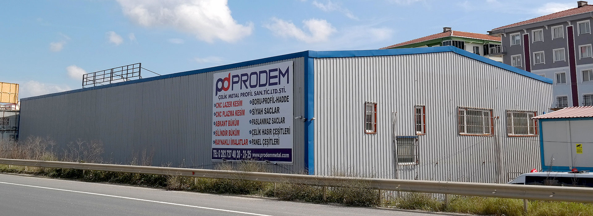Prodem Metal Çerkezköy Demir Profil Boru Çesan Satışı